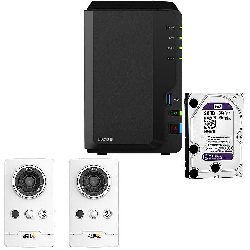 synology ip kamera set m1065 l ds216 ii expert. Black Bedroom Furniture Sets. Home Design Ideas