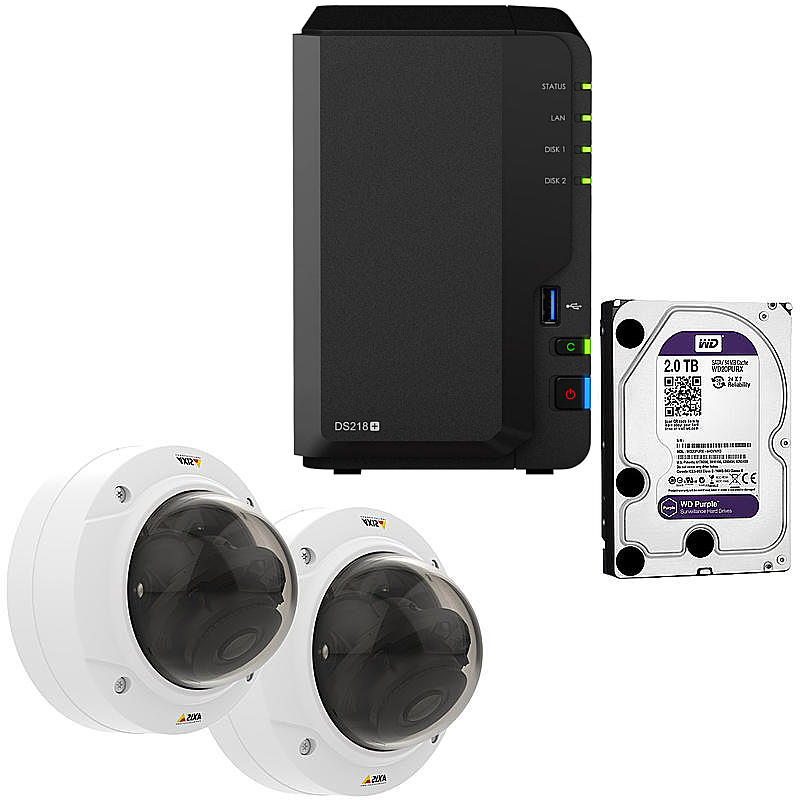 Synology IP-Kamera Set P3225-LVE MKII + DS218+