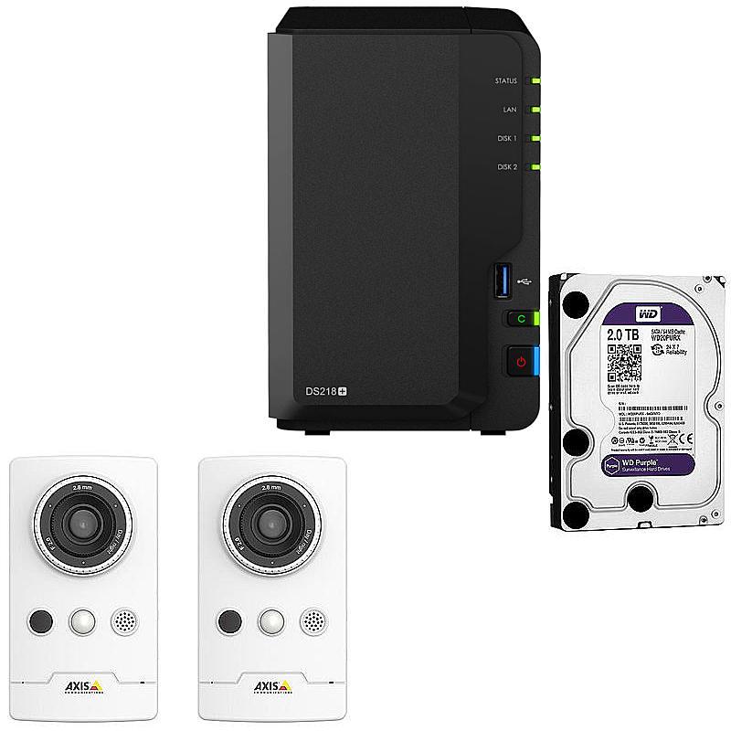 synology ip kamera set m1065 lw ds216 ii expert. Black Bedroom Furniture Sets. Home Design Ideas