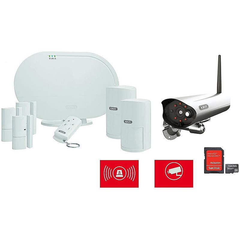 Abus Smartvest Alarm Set + 1080p Wlan Aussenkamera