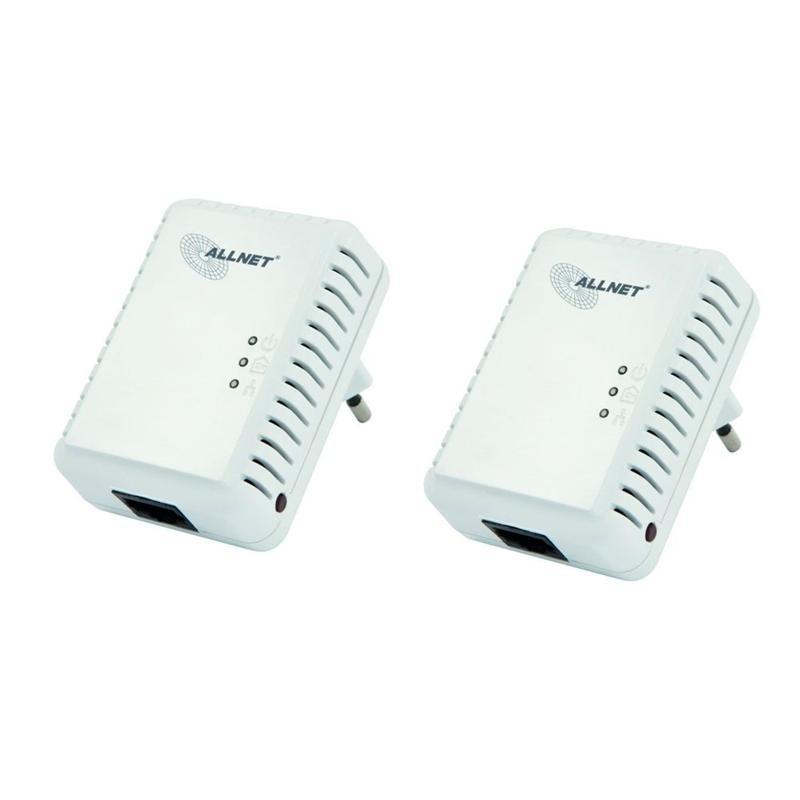 500Mbit HomePlugAV Mini Adapter 2er Pack