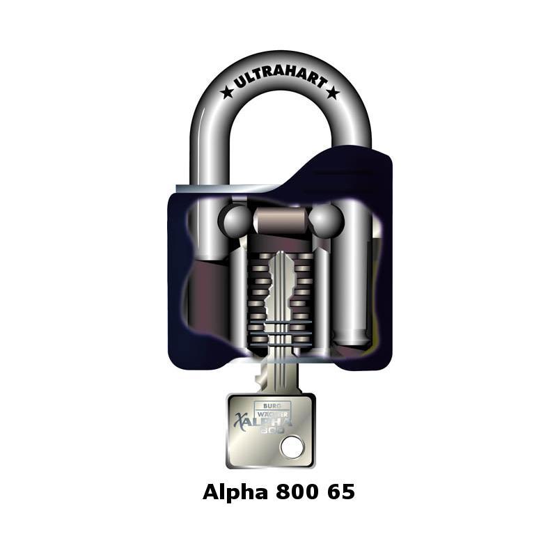 Burg Wächter Alpha 800 65 Vorhangschloss   Expert-Security.de