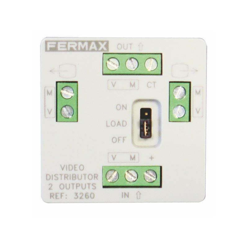 fermax mini video verteiler 2 ausg nge expert. Black Bedroom Furniture Sets. Home Design Ideas