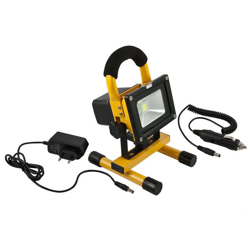 LED Spot Outdoor Baustrahler 10W AKKU gelb