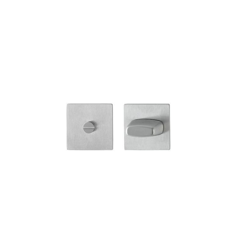Edelstahl Flachrosette E848S quadratisch WC