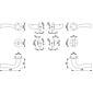 Melbourne 1672/19KV/19KVS Badgarnitur WC F1-2