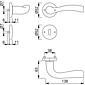 Melbourne 1672/19KV/19KVS Türgriffgarnitur F9-2 BB