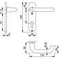 Paris 138L/300K Türgriffgarnitur Kurzschild PZ F1