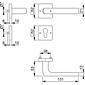 Dallas E1643Z/52KV/52KVS Türgriff-Garnitur PZ