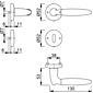 Athinai M156/19KV/19KVS Türgriff-Garnitur BB