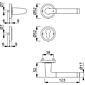 Capri M1950/15KV/15KVS Türgriffgarnitur PZ
