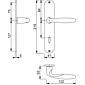 Verona M151/302 Türgriffgarnitur Langschild BB F71