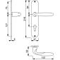 Verona M151/302 Türgriffgarnitur Langschild PZ F71