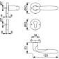 Verona M151/42KV/42KVS Türgriffgarnitur PZ F98-R
