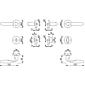 Verona M151/42KV/42KVS Badgarnitur WC F98-R