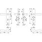 Vitória M1515/302 Badgarnitur Langschild WC F71