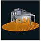 Steinel Sensor-Leuchte LED 9W IP44 L 676 LED alu-a