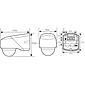 Esylux Bewegungsmelder 130 Grad RC 130i ws