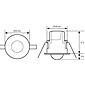 Esylux Decken-Präsenzmelder PD-CE360i/8 op-matt