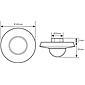 Esylux Decken-Präsenzmelder PD 360i/24 ws