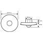 Esylux Decken-Präsenzmelder PD-C360i/8 DIM ws