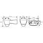 Esylux System-Leuchten-Unterteil AL S 230i sw