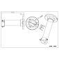 ABUS TVAC31260 Deckenhalterung 20cm für PTZ-Kamera
