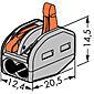 Wago Klemme 222-412 2x0.08-4qmm 50 Stück