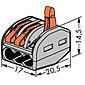 Wago Klemme 222-413 3x0.08-4qmm 50 Stück