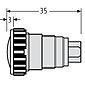 Renz ALU-Klingelknopf silber, RSA1, 97-9-85154