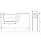 Abus 92/65 Monoblock-Hangschloss mit Stahlmantel