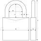 ABUS Messing-Vorhangschloss 45/20 Triples 3er Set