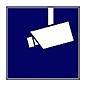 Indexa Aufkleber Videoüberwacht WAK-V 3erPack