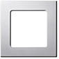 Somfy 1-fach Smoove Rahmen - Silver (matt)