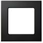 Somfy 1-fach Smoove Rahmen - Black (glänzend)