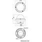 Eneo PXD-2080Z03 D Dome IP-Kamera D/N 1080p IR PoE