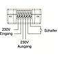 LUPUSEC - Unterputzrelais mit Stromzähler XT2 Plus