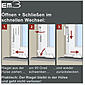 EM3 Riegel weiss zur Fenster-Einbruchsicherung