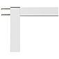 Fensterfliegengitter Master Slim 100x120 cm weiß
