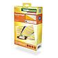 Sonnensegel-Seilspanntechnik gelb/weiß 2,7 x 1,4 m
