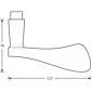 FSB Türdrückerpaar 10 1020 Messing poliert