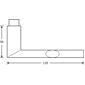 FSB Drückerlochteil 10 1108 Aluminium F1 li/re