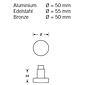 FSB Knopfdrücker Lochteil 08 0829 AluF1 Vierk 10mm