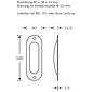 FSB Einlaßmuschel 42 4212 Aluminium F1