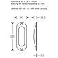 FSB Einlaßmuschel 42 4212 Messing poliert