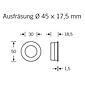 FSB Einlaßmuschel 42 4254 Aluminium F1