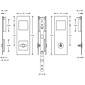 FSB Bad Einlaßmuschel mit Einsteckschloß 42 4255 E
