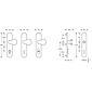 FSB Schutz Wechselgarnitur 73 7384 Alu F1 PZ 72mm