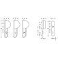 FSB Schutz Wechselgarnitur 73 7388 Aluminium F1 re