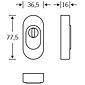 FSB Schutzrosette 73 3249 ZA Aluminium F1